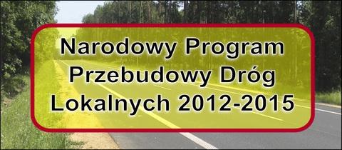 Baner Narodowego Programu Przebudowy Dróg Lokalnych.