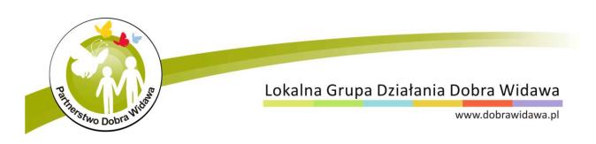 Baner Stowarzyszenia Lokalnej Grupy Działania Dobra Widawa.