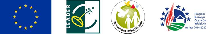 Baner przedstawia loga Unii Europejskiej, Europejskiego Funduszu Rolnego na rzecz Rozwoju Obszarów Wiejskich, Partnerstwa Dobra Widawa