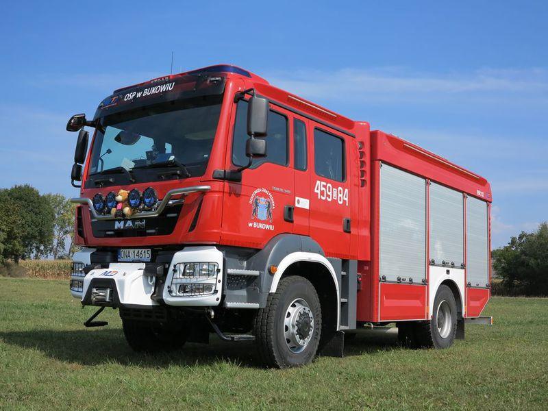 Nowoczesny wóz gaśniczo-ratowniczy MAN TGM 18.340
