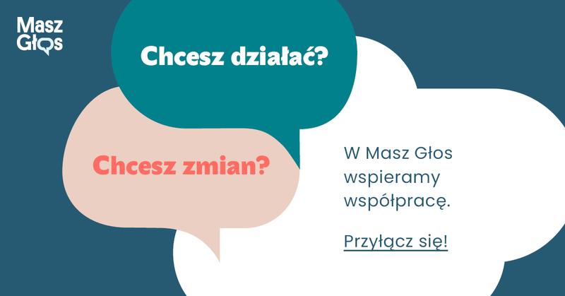 Baner akcji Masz Głos Stowarzyszenie Aktywności Obywatelskiej Bona Fides