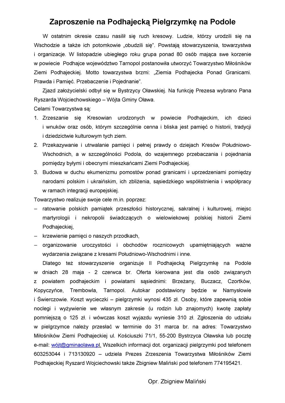 Zaproszenie na Podhajecką Pielgrzymkę na Podole_p01.jpeg