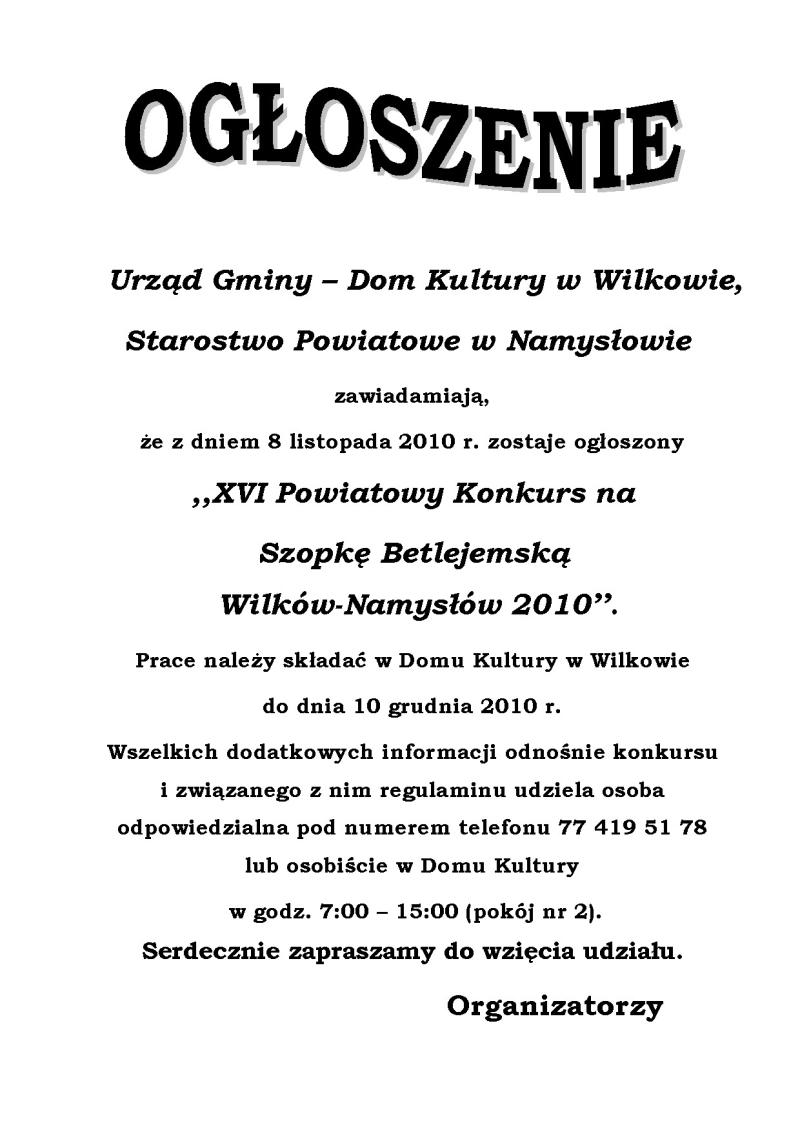 OGŁOSZENIE - konkurs Szopka Betlejemska_p01.jpeg